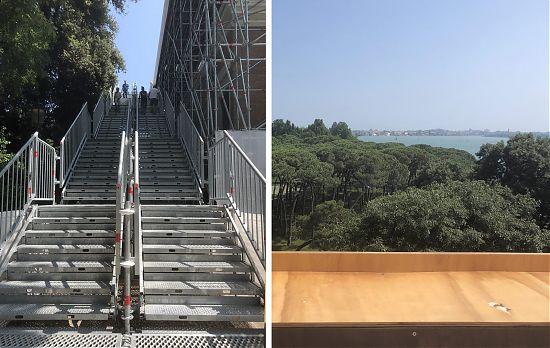 763c9c56de3 Вляво: скелето около празния британски павилион и стълбата, която води до  покрива му. Вдясно: гледката от покрива. На парапета можеш да пиеш чай.