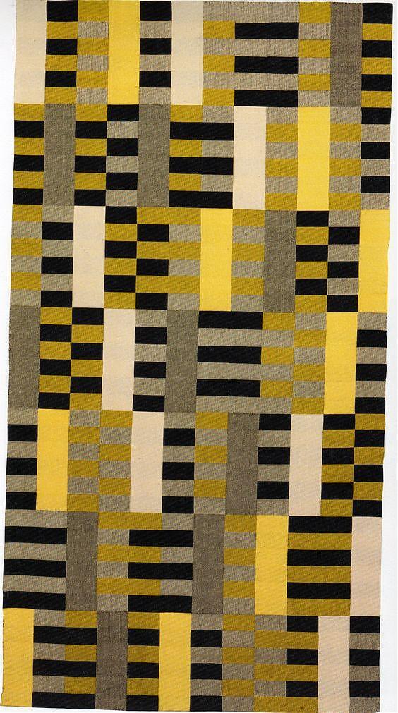 34c04ec7500 Ани Алберс създава някои от най-забележителните модерни текстилни десени на  ХХ век. След Баухаус тя живее и работи със съпруга си Йозеф Алберс в САЩ,  ...