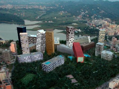 Жилищен квартал Tirana Rocks, проект на MVRDV