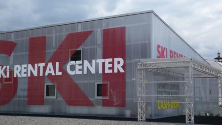Фасада от поликарбонатни плоскости