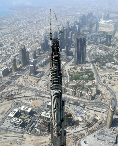 Burj Dubaj, май 2008