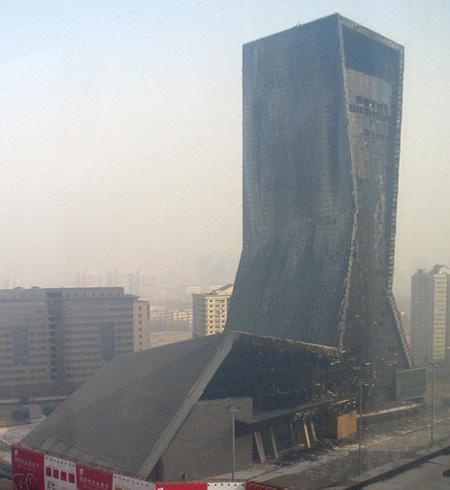 Сградата след пожара