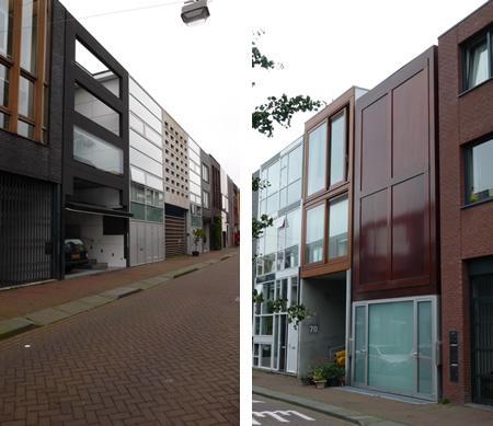 Фасадите откъм улицата